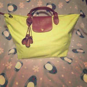 Long champ big satchel bag